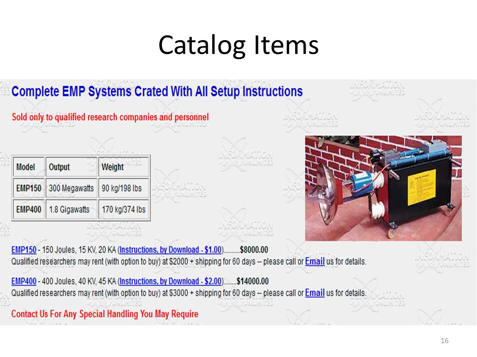 Catalog Items