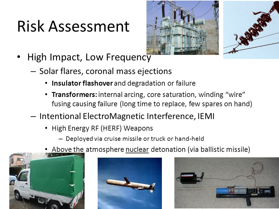 Risk Assessment High Impact, Low Frequency