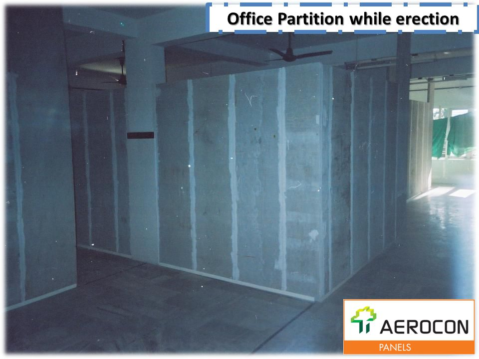 Office Partition while erection