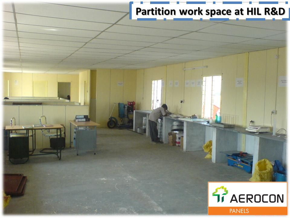 Partition work space at HIL R&D