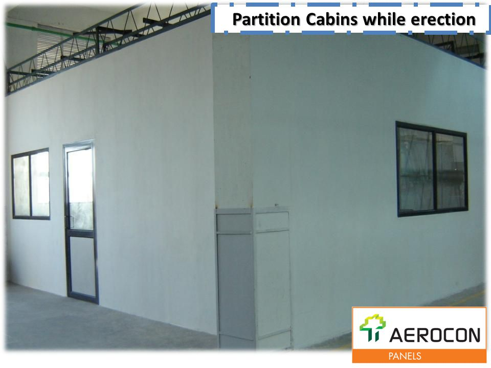 Partition Cabins while erection