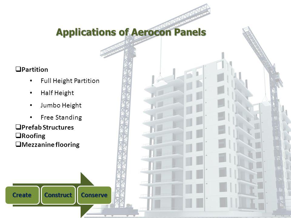 Applications of Aerocon Panels