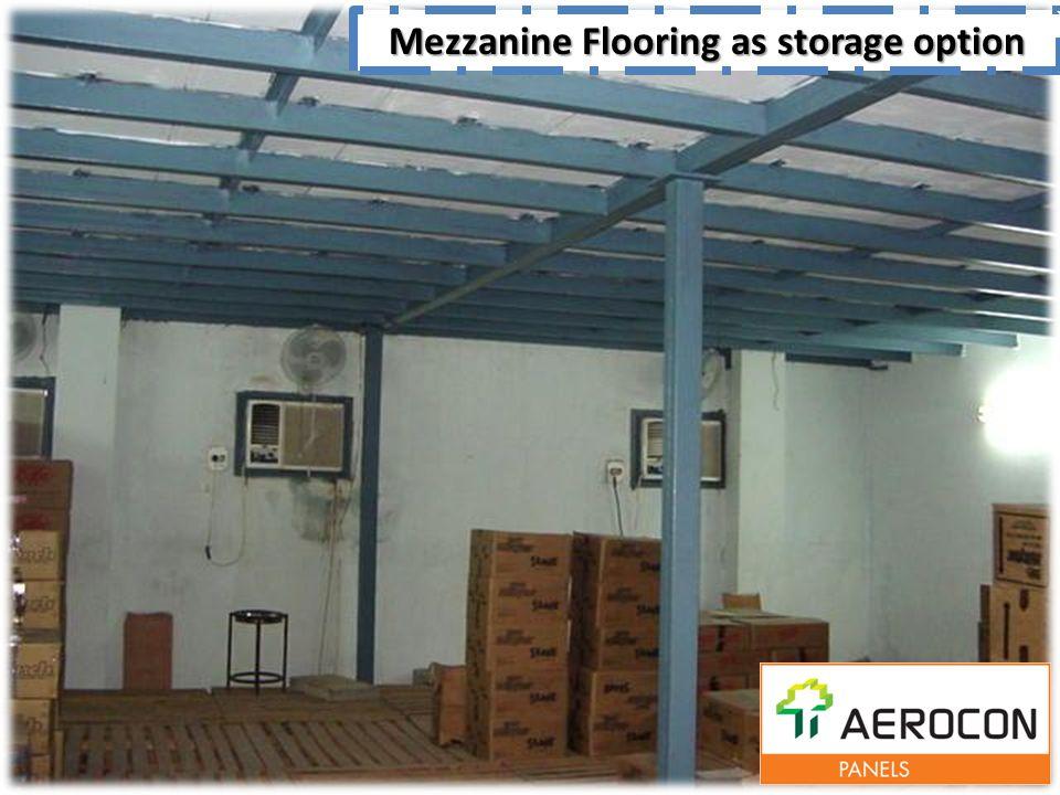 Mezzanine Flooring as storage option