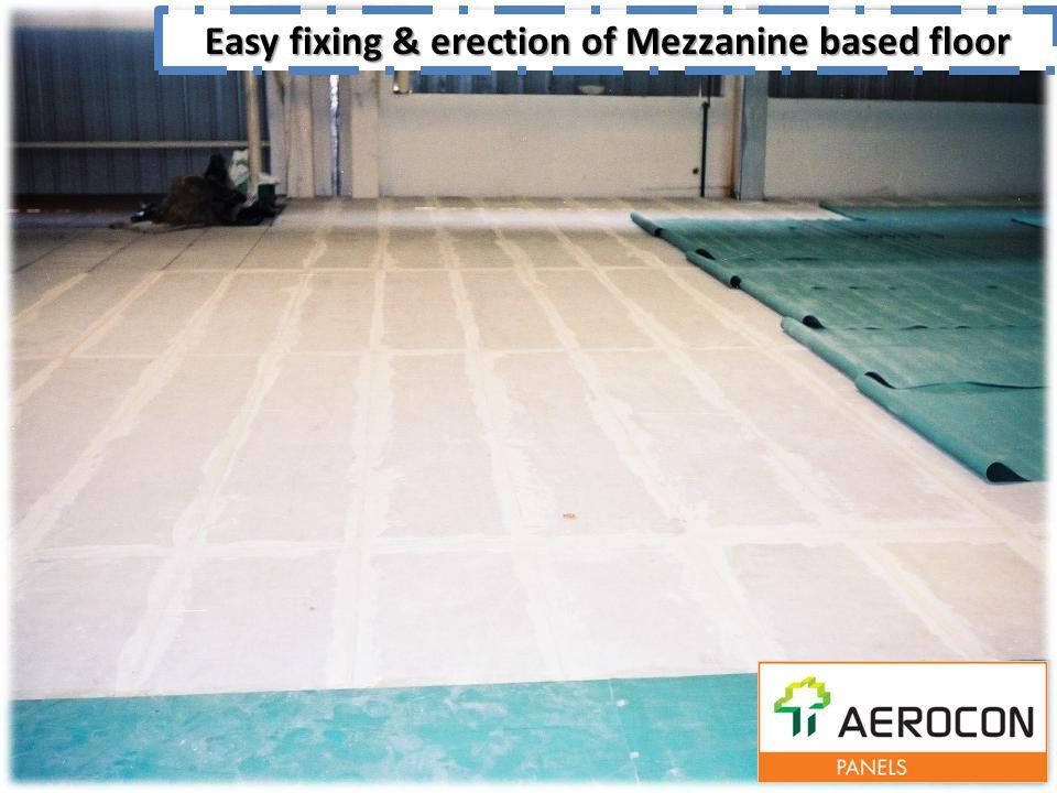 Easy fixing & erection of Mezzanine based floor