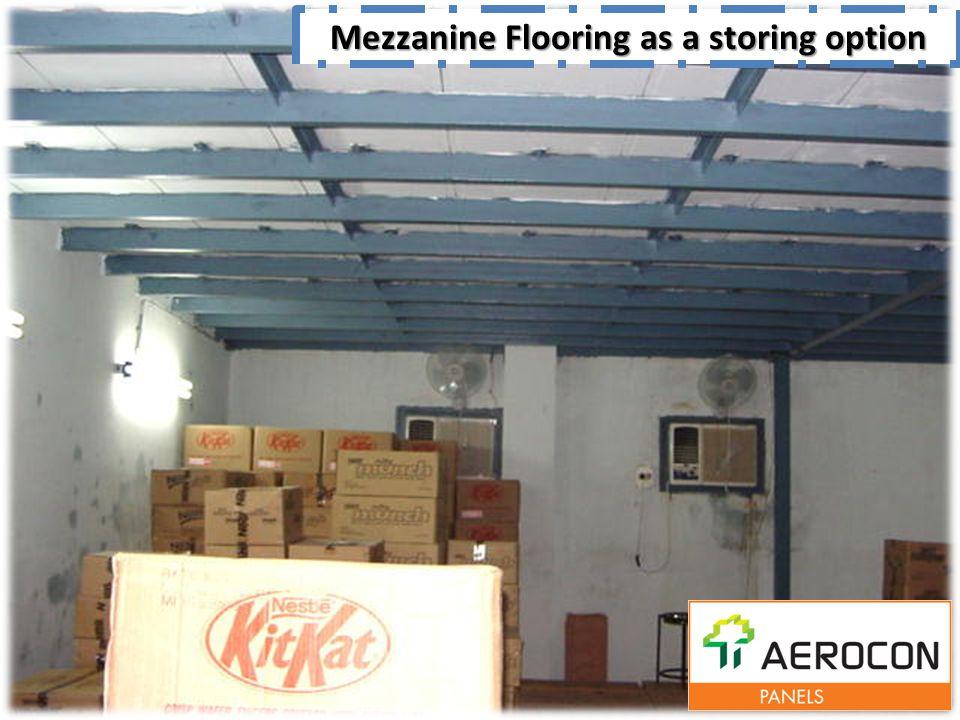 Mezzanine Flooring as a storing option