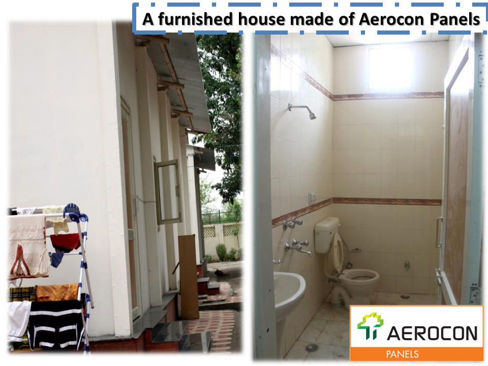 A furnished house made of Aerocon Panels