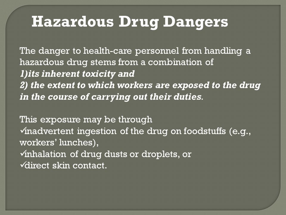 Hazardous Drug Dangers