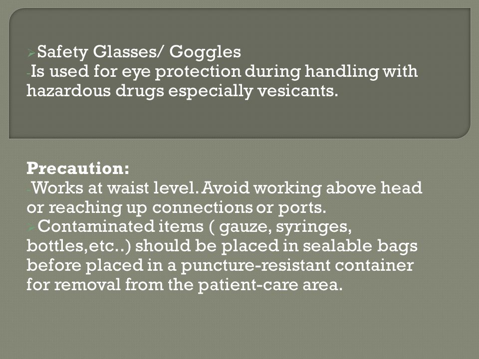 Safety Glasses/ Goggles