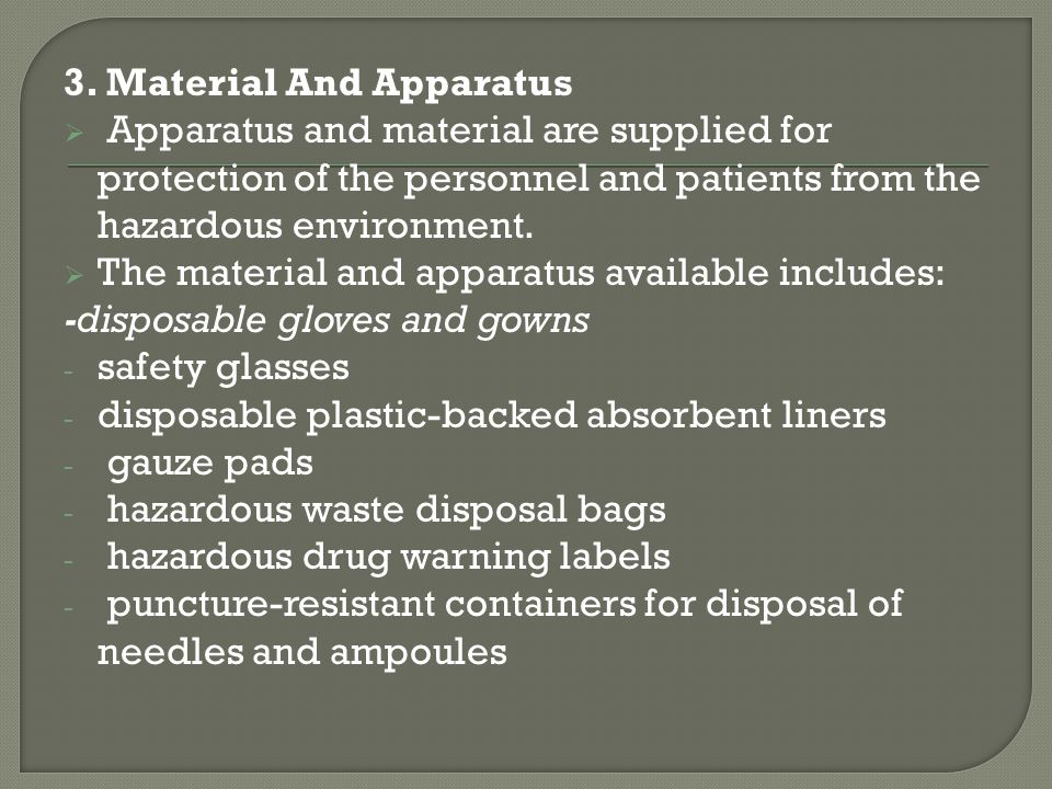 3. Material And Apparatus