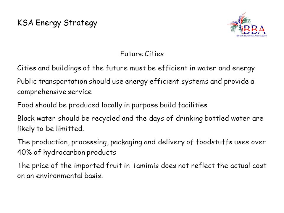 KSA Energy Strategy Future Cities