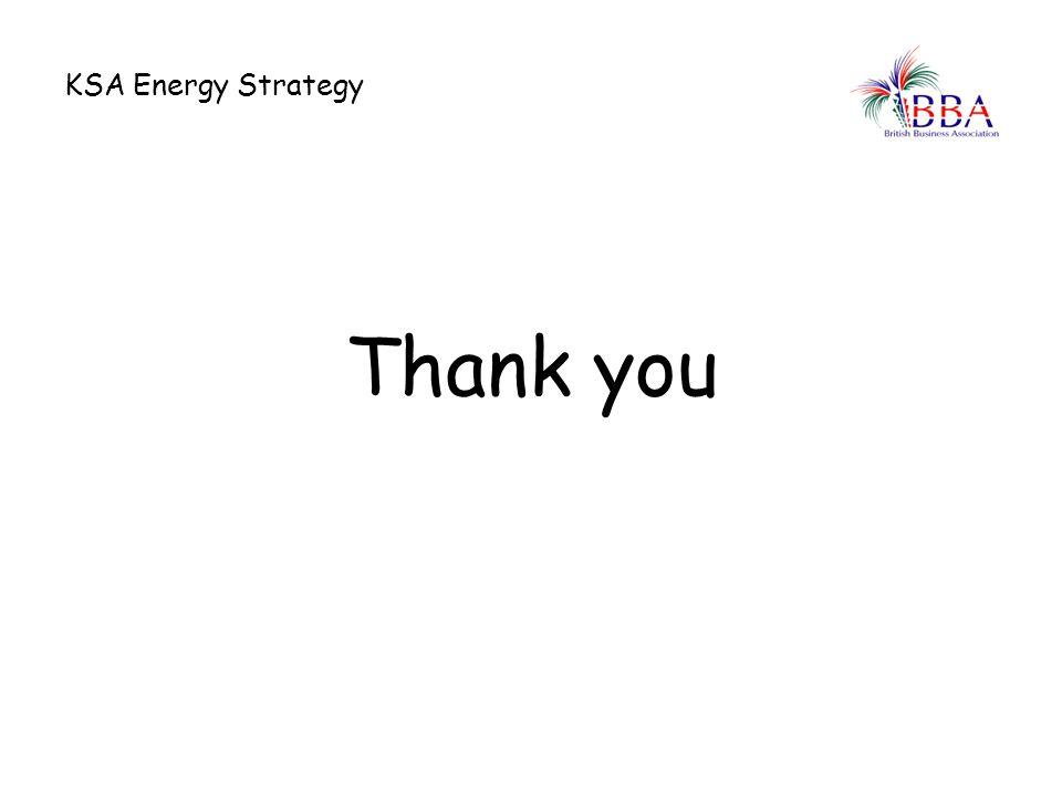 KSA Energy Strategy Thank you