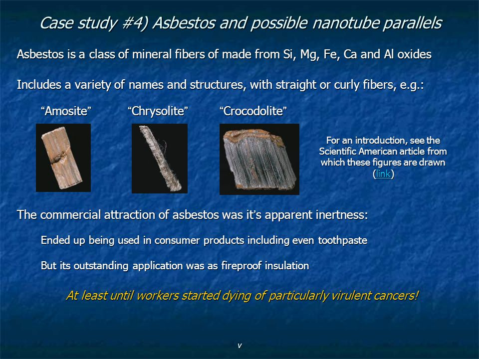Case study #4) Asbestos and possible nanotube parallels