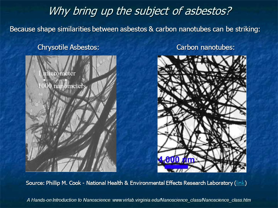 Why bring up the subject of asbestos