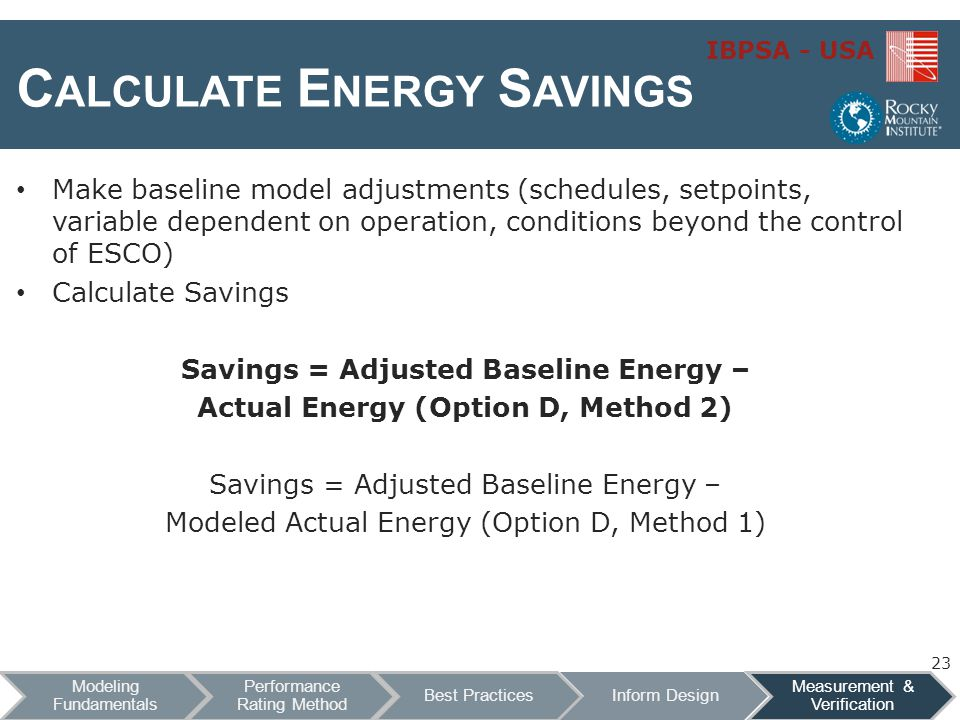 Calculate Energy Savings