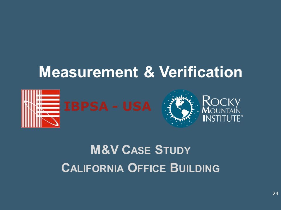 Measurement & Verification