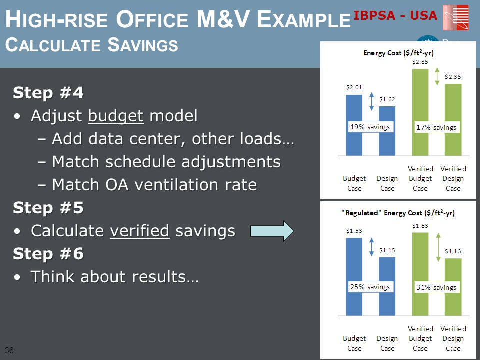 High-rise Office M&V Example Calculate Savings