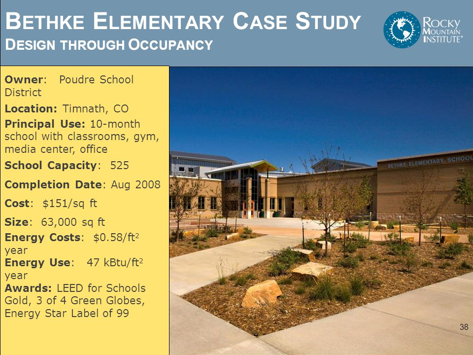 Bethke Elementary Case Study Design through Occupancy