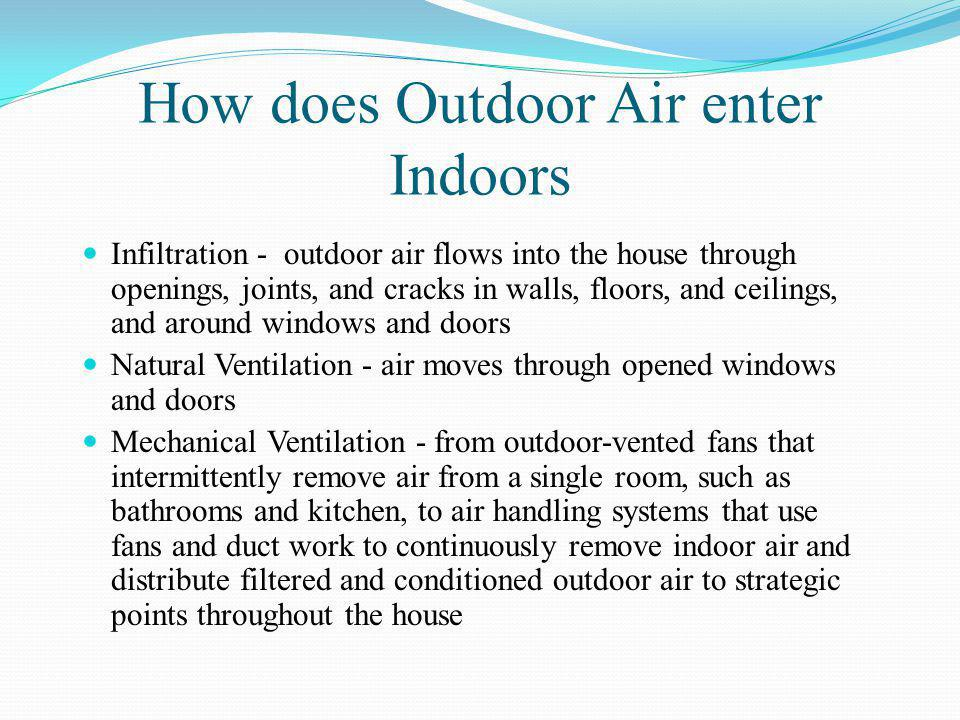 How does Outdoor Air enter Indoors