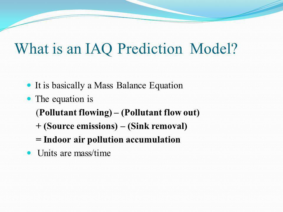 What is an IAQ Prediction Model