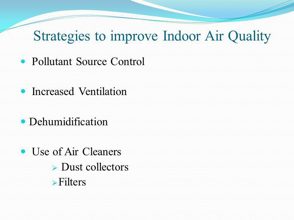 Strategies to improve Indoor Air Quality
