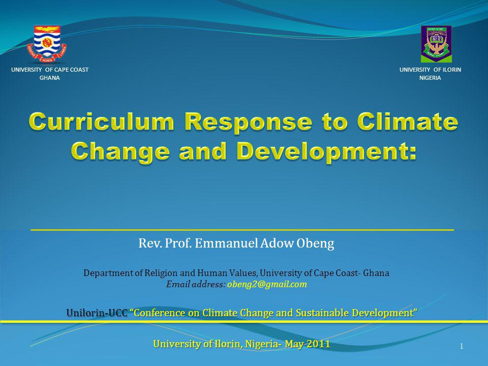 Curriculum Response to Climate Change and Development: