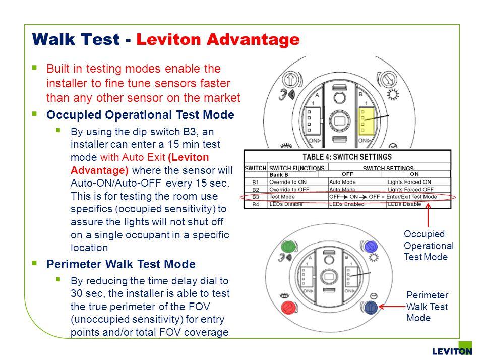 Walk Test - Leviton Advantage