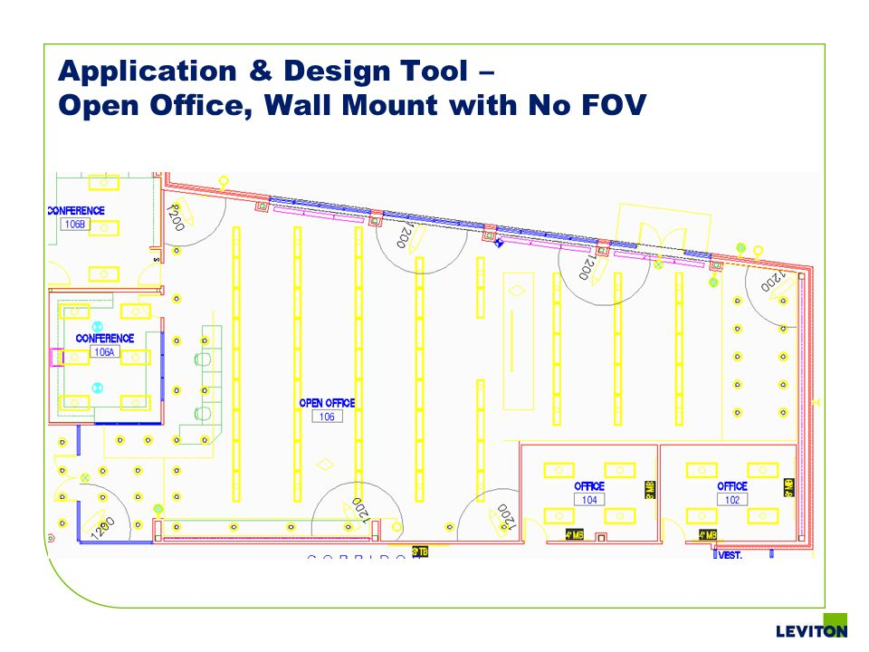 Application & Design Tool – Open Office, Wall Mount with No FOV