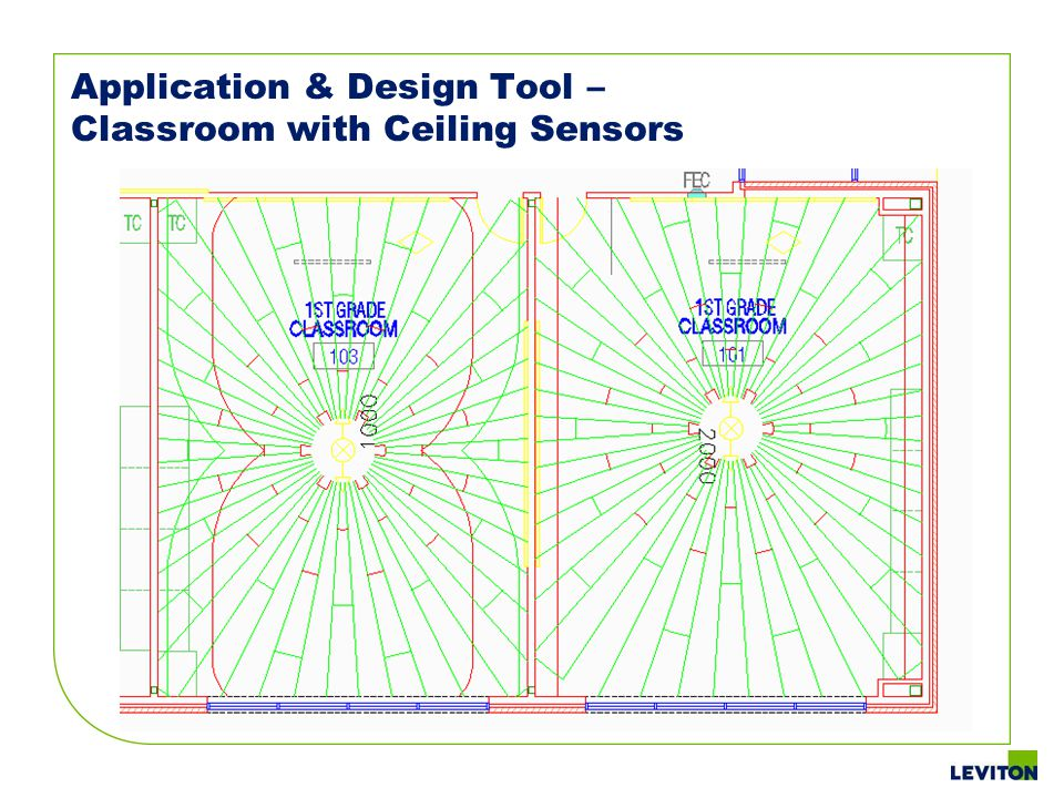 Application & Design Tool – Classroom with Ceiling Sensors