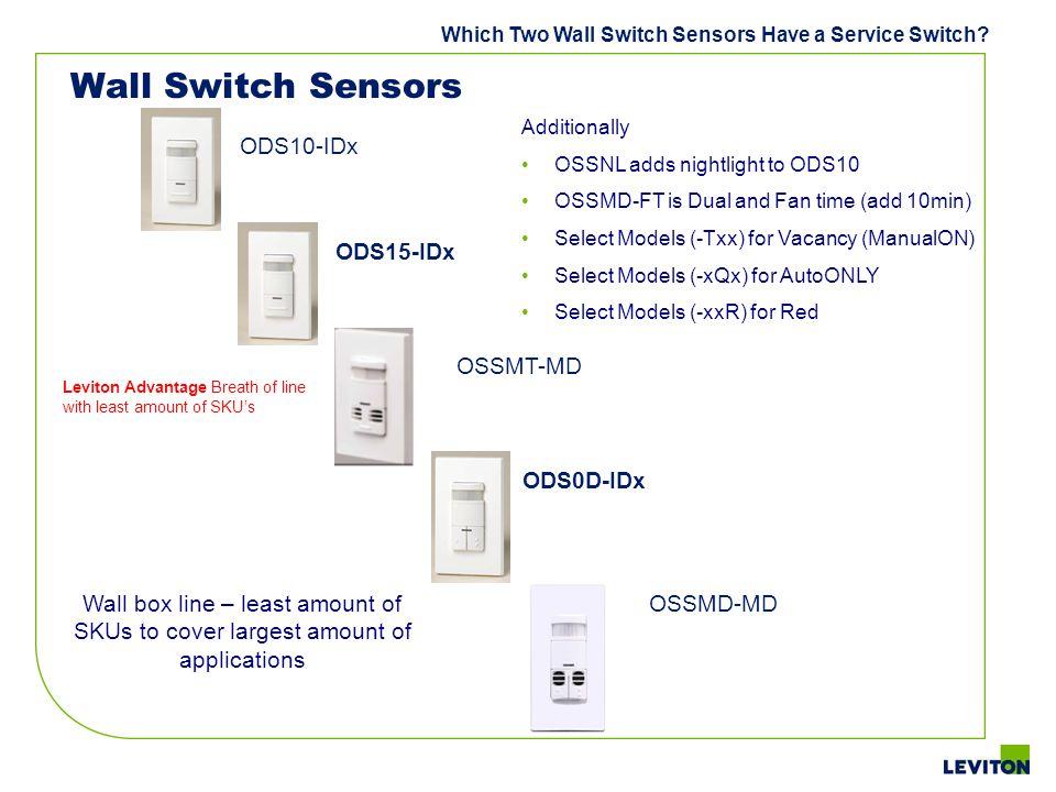Wall Switch Sensors ODS10-IDx ODS15-IDx OSSMT-MD ODS0D-IDx