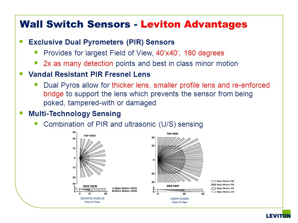 Wall Switch Sensors - Leviton Advantages
