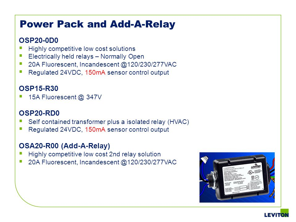 Power Pack and Add-A-Relay