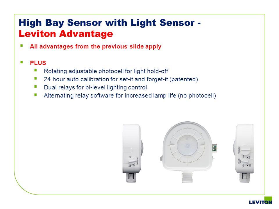 High Bay Sensor with Light Sensor - Leviton Advantage