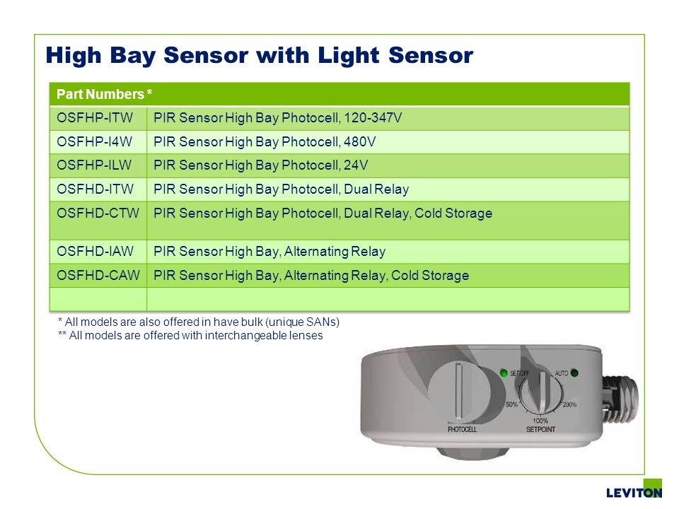 High Bay Sensor with Light Sensor