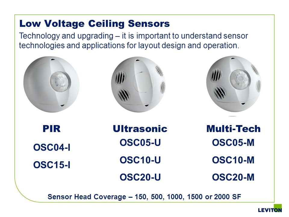 Sensor Head Coverage – 150, 500, 1000, 1500 or 2000 SF