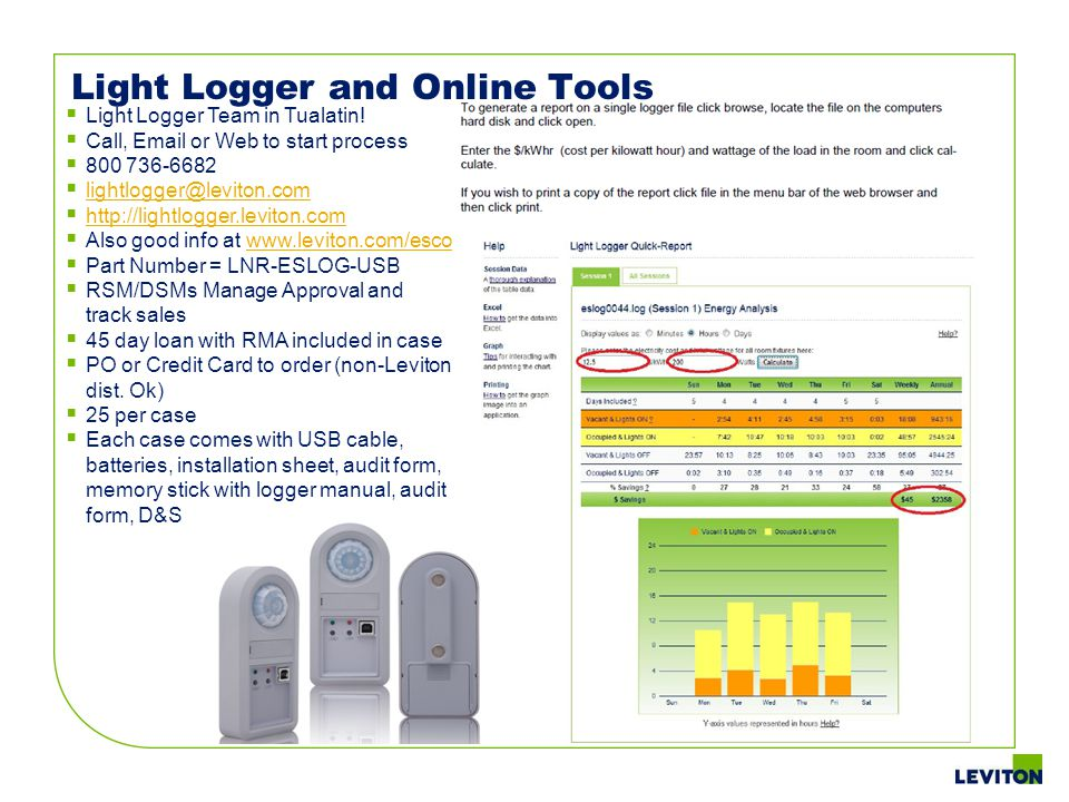 Light Logger and Online Tools