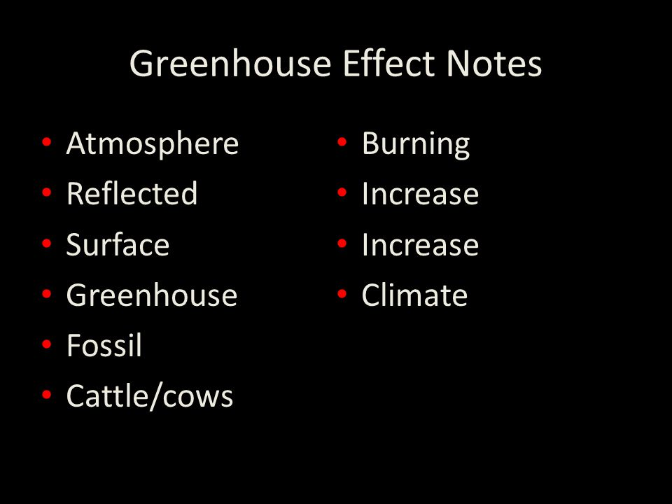Greenhouse Effect Notes