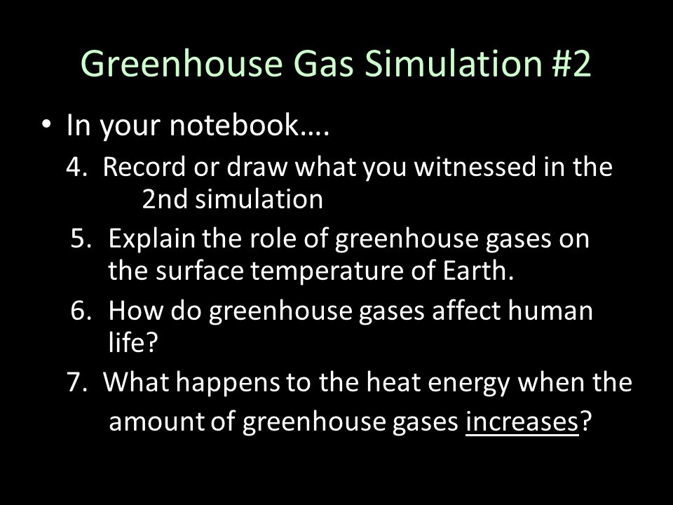 Greenhouse Gas Simulation #2