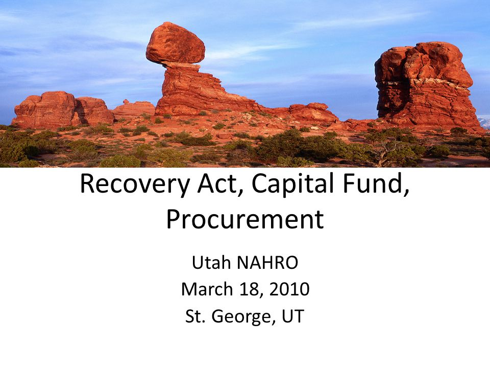 Recovery Act, Capital Fund, Procurement