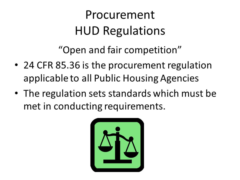 Procurement HUD Regulations