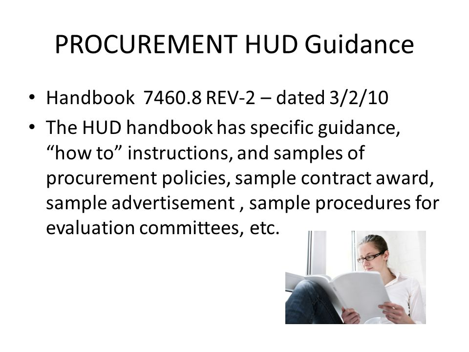 PROCUREMENT HUD Guidance