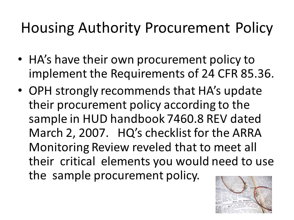 Housing Authority Procurement Policy