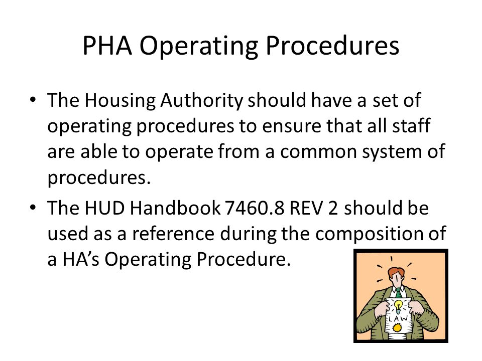 PHA Operating Procedures