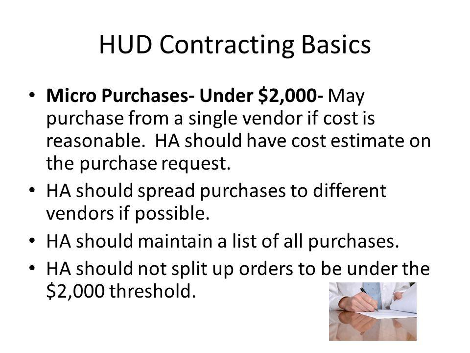 HUD Contracting Basics