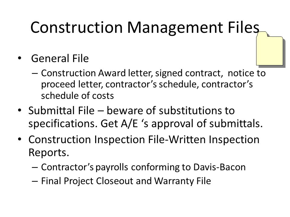 Construction Management Files