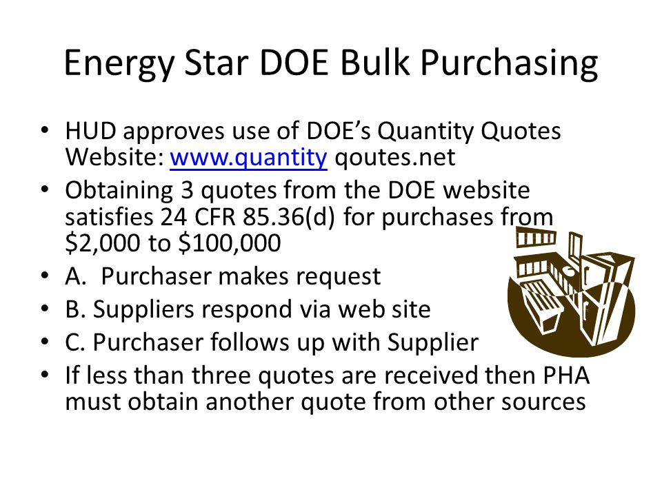 Energy Star DOE Bulk Purchasing