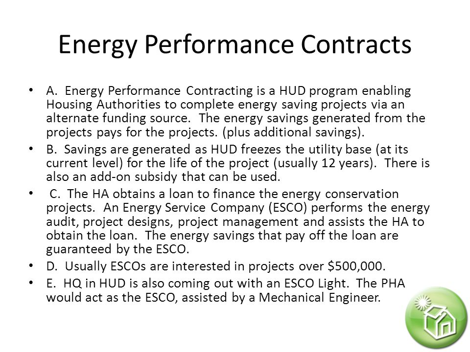 Energy Performance Contracts