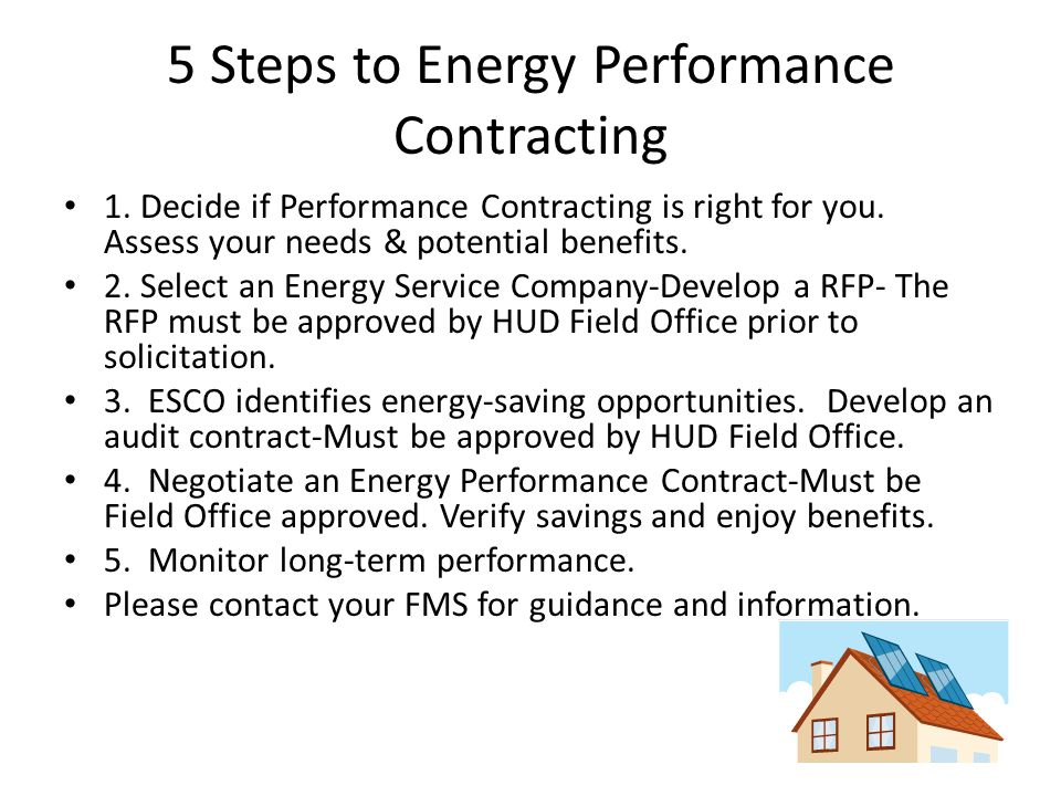 5 Steps to Energy Performance Contracting