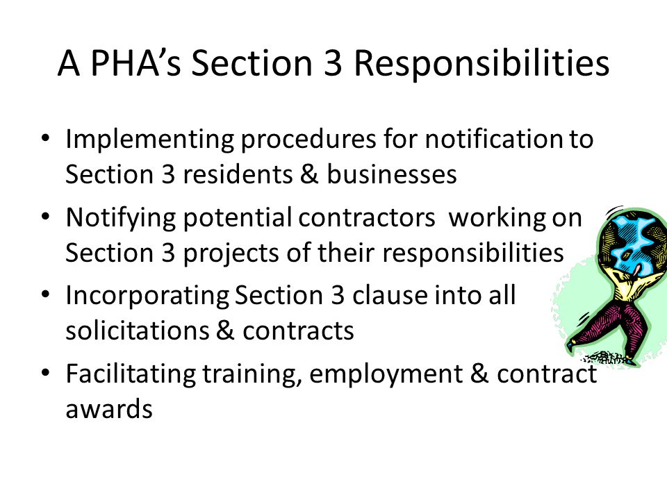 A PHA's Section 3 Responsibilities