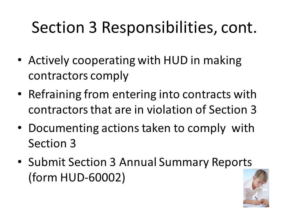 Section 3 Responsibilities, cont.