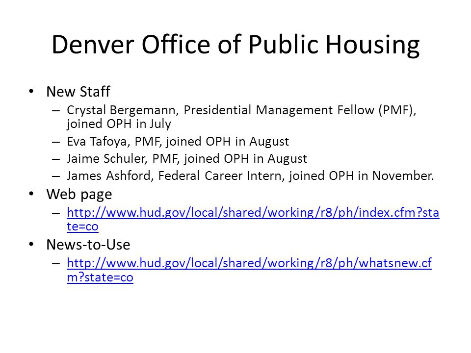 Denver Office of Public Housing